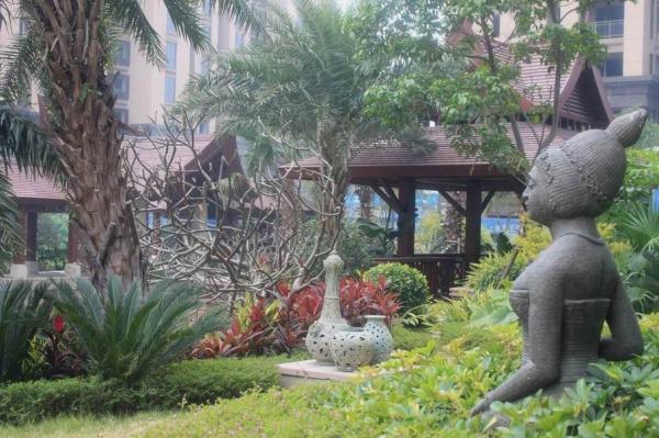 泰式木廊架景观