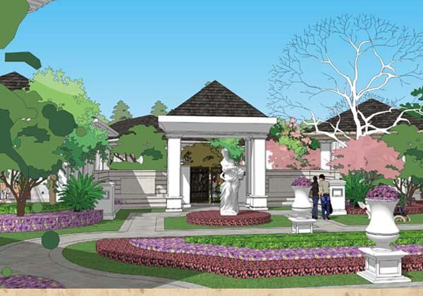 设计定位结合欧式建筑风格,打造欧式皇家宫廷风格温泉.